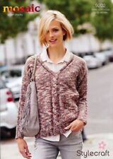 Stylecraft Knitting Pattern 9202 Travelling Cable Sweater Ladies Super Chunky