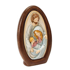 EGG SHAPED CERAMIC JOSEPH, MARY AND BABY JESUS FIGURINE / ORNAMENT. NEW & BOXED.