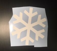 Snowflake Car Decal WHITE 150mm