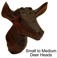 New German Made Wood Cuckoo Clock Case Deer Head - Choose from 5 Sizes!