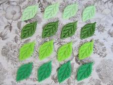 "80 Felt & Satin 1"" Leaf Leaves Green Applique/flower/motif/fabric/craft/bow H569"