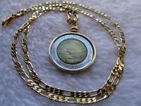 Italian 500 Lire Piazza del Quirinale Roma Europa 1984 Pendant & Round Necklace