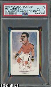 1979 Venorlandus Ltd. Our Heroes World of Sport Boxing #3 Muhammad Ali PSA 4