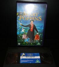 Walt Disney MARY POPPINS VHS PAL D200232 remastered Dolby surround EX condition