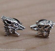 Werewolf Earrings - 925 Sterling Silver Post Earrings - Wolf Halloween *NEW*