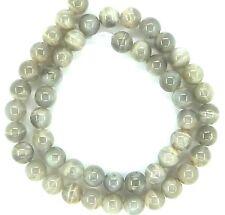 "15.5"" SHINY NATURAL Moonstone Round ~50 Beads 8mm K3221"