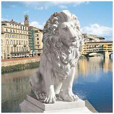 Italian Estate Grande Quiet Strength & Courage Lion Sentinel Classic Art Statue