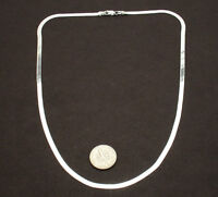 3mm Wide Flexible Herringbone Chain Necklace Solid Real 925 Sterling Silver