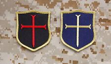 Crusader Shield Patch Set NSWDG DEVGRU Gold Squadron Team ST6 Navy SEAL Hook