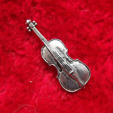 Musical Viola Hand-Crafted English Pewter Badge + free UK postage