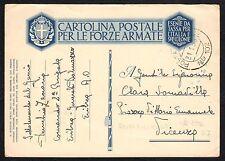 STORIA POSTALE AOI 1936 Cartolina Franchigia da PM 102 a Vicenza (FILT)