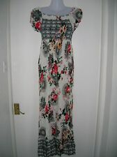 Nuevas damas con T L/XL 12 14 16 Vestido Maxi del Verano Vacaciones Crucero Fiesta Noche