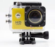 QUMOX Actioncam SJ4000 Action Sport Kamera Camera Zubehörpaket Full HD Gelb