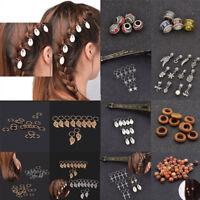 10/20Pcs DIY Dreadlock Hair Beads Hair Braid Pins Rings Cuff Clips Jewelry Decor