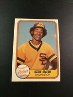1981 Fleer # 488 OZZIE SMITH San Diego Padres Great Card Look !