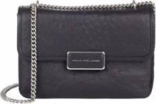MARC JACOBS Rebel 24 Ostrich Stamped Leather Crossbody Handbag Bag $428  NWT