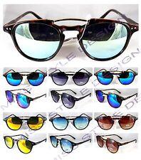 occhiali dA sole media tondi vintage UNISEX TWING  specchio fumè+OMAGGIO 2016