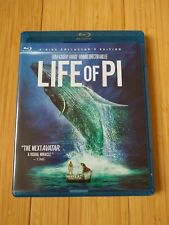 Life Of Pi 3-disc collector's edition Blue Ray 3D Blue Ray Dvd Digital Copy