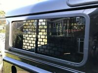 Rear Inside Sliding Window Guard Protection Grilles Land Rover Defender 90 110
