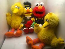 Very Nice Lot of 4 Sesame Street Stuffed Animals 2-Big Bird, 1-Elmo-1-Bert