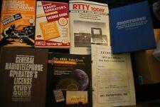 Lot of 7 Books & Guides & Manuals for Radio Operators Ham Arrl Rtty License Mfj
