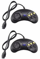 2x Sega Mega Drive I II - Master System - Mega CD 6 Button Controller Gamepad