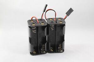 2pcs 6V RC 4xAA Battery Holder Futaba Plug For Receiver Cars Heli Planes Boats