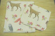 Deer Fox Squirrel Owl Flowers Birds Baby Blanket Burp Cloth Set Can Personalize