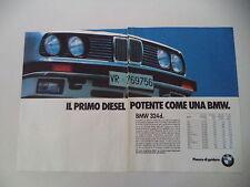 advertising Pubblicità 1987 BMW 324 D