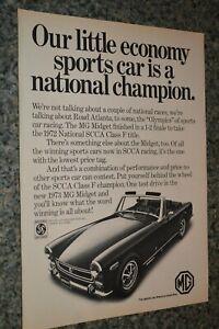 ★★1973 MG MIDGET ORIGINAL ADVERTISEMENT AD PRINT 73