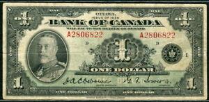 Canada 1935, 1 Dollar, P38, F-VF