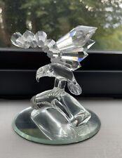 More details for vintage crystal glass bald eagle statue