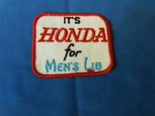 "Vintage 70's NOS sew on patch,    ""It's Honda forMen's Lib""      RARE     67"