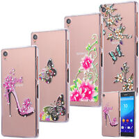 SLIM TPU CASE STRASS SCINTILLANTS COQUE HOUSSE COVER MOTIF TRANSPARENTE SONY