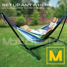 Hammock with Stand Steel Portable Double Swing Bed with Carry Case for Outdoor