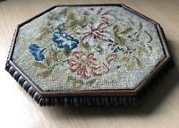 Vintage Flower Tapestry Wooden Teapot Stand