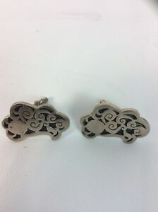 Nice vintage Taxco Mexico Espinosa sterling Silver 925 Ornate cufflinks