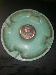 Roseville Pottery Ashtray The Hyde Park Monogrammed