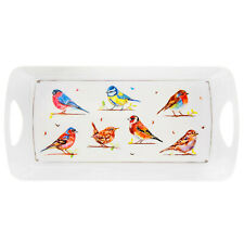 Medium Rectangular Melamine Birds Design Snack Tray Food Drinks Serving Trays