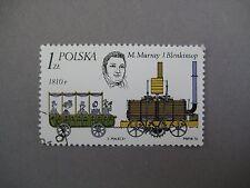 Vintage collectible stamp, 1810 transport, Polish stamp, Polska, 1976