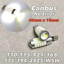Parking Light T10 SMD LED Wedge 194 2825 168 12961 W5W 175 6000K WHITE 90 W1 JAE