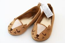 NEW OLD NAVY TODDLERS GIRLS FOX FLAT BALLET SIZE 5 BROWN BEIGE ANIMAL SHOES TAN