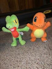 Charmander and Treecko TOMY Plush Toy Stuffed Pokemon