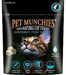 Pet Munchies Natural Cat Treats Gourmet Fish Fillet Snacks Reward 10g Pack