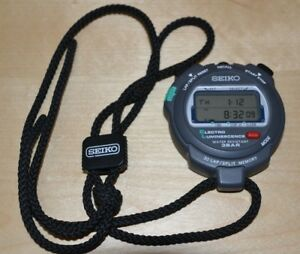 Seiko S034 Stop Watch Stopwatch Running Swimming Cycling Personal Training