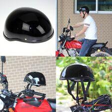 Motorcycle Half Face Helmet Skull Cap For Chopper Bobber Cruiser Bikes Black New