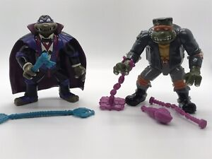 Universal Monsters Tmnt 1993 Dracula Don Frankenstein Mike With Accessories