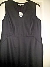Stunning L.K. Bennett Dr/Faye Black Wool Dress UK 18 £225.00 BNWT