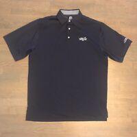 Footjoy FJ Golf Polo Shirt Short Sleeve Blue Embroidered Men's Size L Large