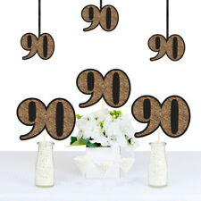 Adult 90th Birthday - Gold - Decorations DIY Party Essentials - Set of 20
